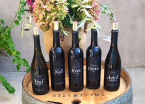 Black Label Wines on Wine Barrel